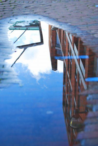reflectie regenplas